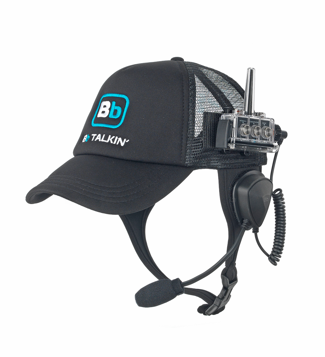 BbTALKIN USA's 100% waterproof baseball cap with microphone