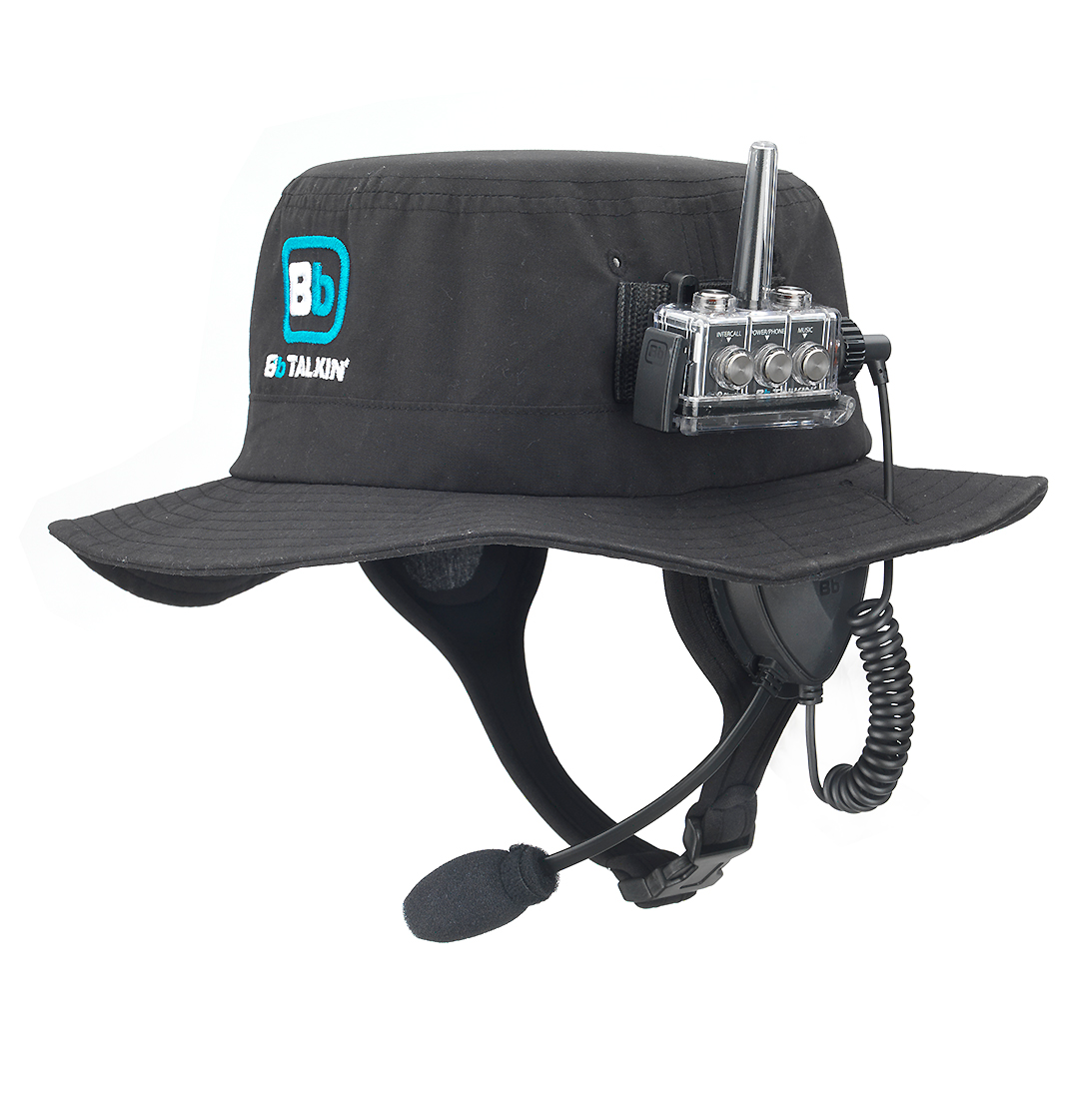 Our surf hat is 100% waterproof and provides protection from the sun