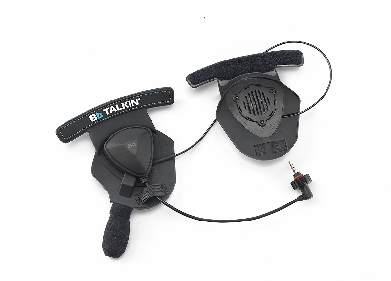Double Sided Helmet Speaker Pad with Microphone