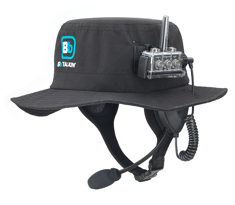 surf hat with microphone + speaker + advance unit