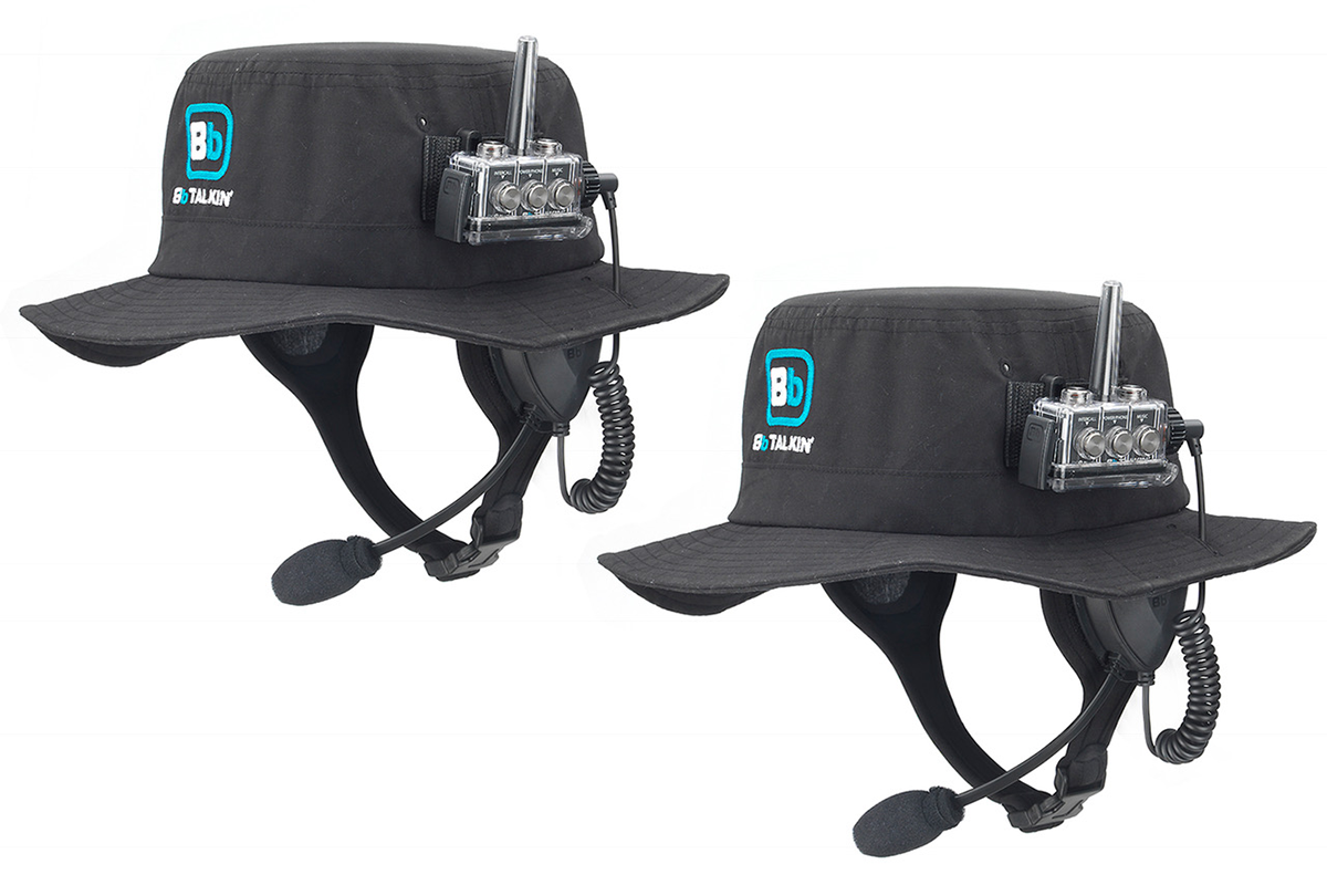 Two way communication with surf hats by BbTALKIN
