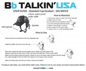 BbTALKIN Baseball Cap Manual