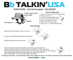 BbTALKIN Manual re Surf Hat