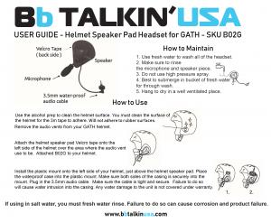 BbTALKIN Gath Headset Manual