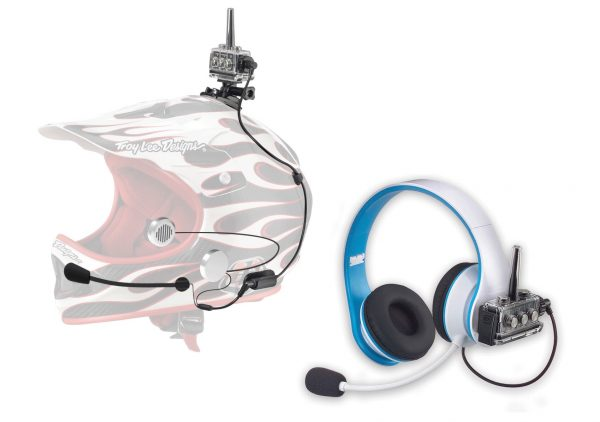 Coaching package offered with waterproof headset for student and non-waterproof headphones for coach on shore