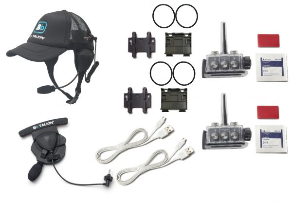 Waterproof Communication Set with Helmet and Baseball Cap